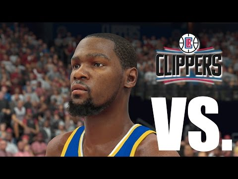 NBA 2K17 Gameplay - Golden State Warriors vs. Los Angeles Clippers - Play Now Online - S1 E6