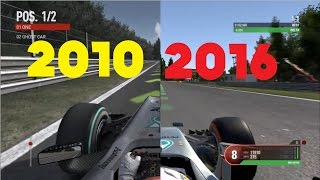F1 Game Comparison (2010 - 2016 Spa Hotlaps)