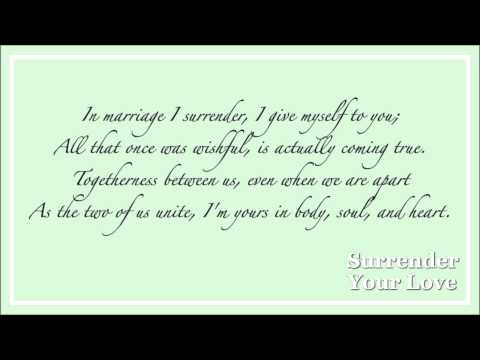 wedding poem | surrender your love