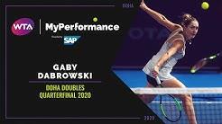 My Performance | Gaby Dabrowski | 2020 Doha Doubles Quarterfinal