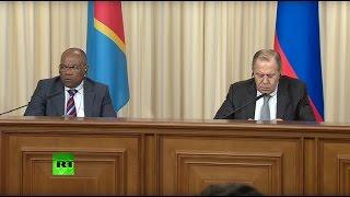 Пресс конференция Лаврова и главы МИД Конго по итогам переговоров