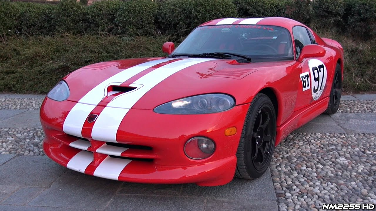 Dodge viper gts custom exhaust awesome v10 sound overview