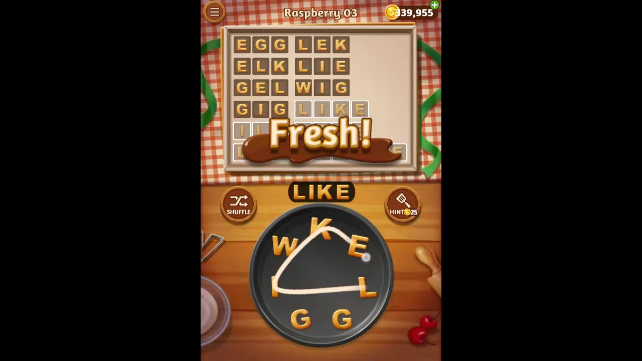 Word Cookies Raspberry Pack Level 3 Answers Youtube