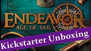 Endeavor Age of Sail - Kickstarter Unboxing - JTRPodcast