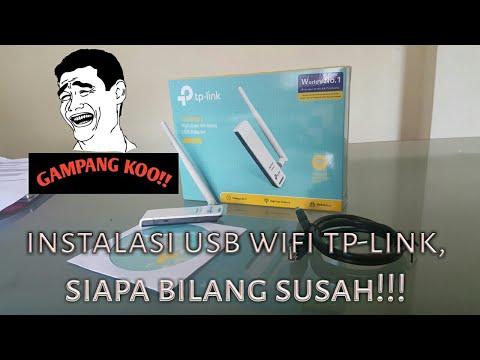Instalasi & tutorial pemasangan wifi usb tp-link TL-WN722N #part 2