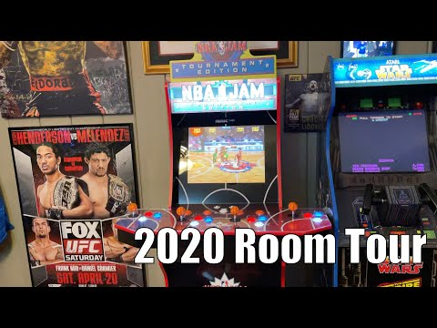 Fight Cave end of 2020 room tour. UFC, Boxing, Arcade1Up, XM Studios, Sideshow Collectibles. from Combat and Collecting
