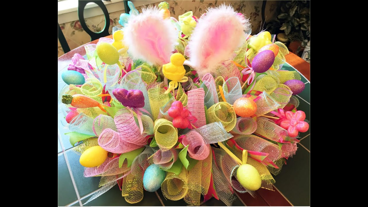 How to make an easter centerpiece tutorial youtube