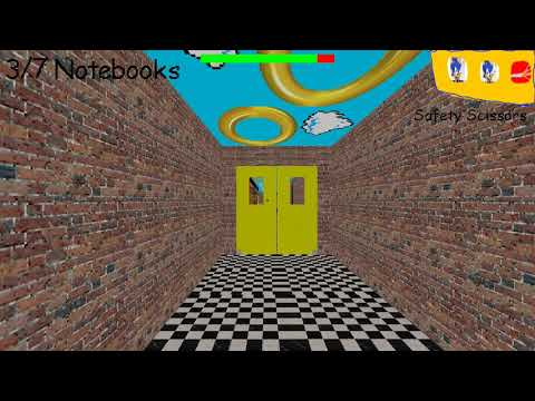 Sonic The Hedgehog In Fast And Learning - (Baldi's Basics V1.4.1 Mod) [1080P 60FPS HD]