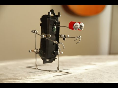 How to make a walking robot with moving arms #2 Galvanized wire biped