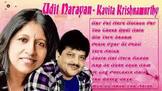 Udit Narayan & Kavita Krishnamurthy Best Songs  Superhit Jukebox - Audio Hindi Songs Collection