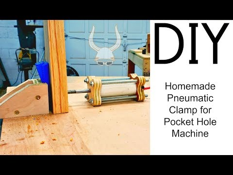 Homemade PVC Air Cylinder for a Pocket Hole Machine | DIY