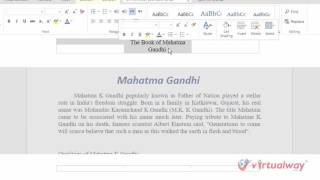 MS Word online headers and footers
