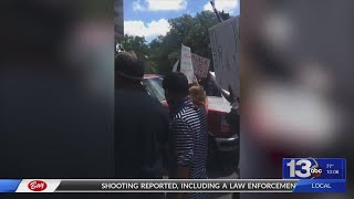 Truck drives through crowd at Tallahassee protest