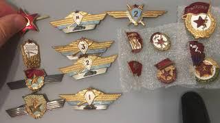 Советские военные Знаки нагрудные обзор дополнение к коллекции знаков СССР / Канал Коллекционера