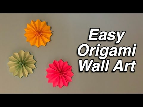 Beautiful DIY Origami Flowers To Decorate Your Wall : Wall Decor ... | 360x480