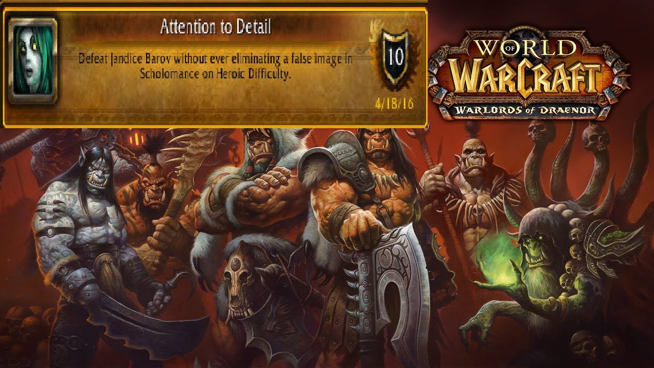 world of warcraft achievement attention to detail youtube