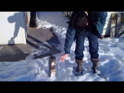 Using a Fresnel Lens to Quickly Start a Fire