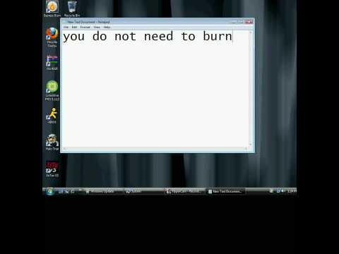 How To Get Windows Vista Ultimate FOr Free! (Burning File To  Dvd Not Required)