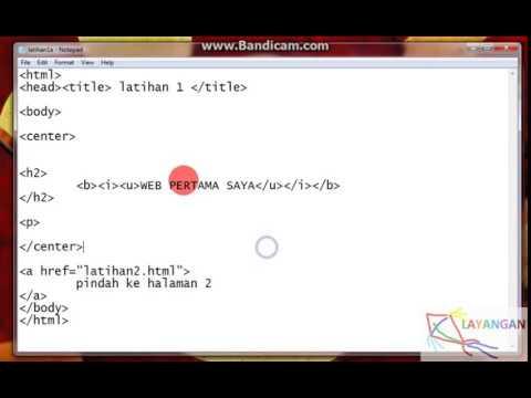 HTML Dasar dengan NOTEPAD 2 LINK