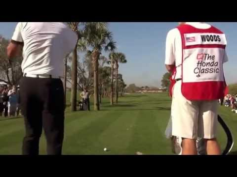 TIGER WOODS 2014: HONDA CLASSIC PRO AM GOLF SWING FOOTAGE