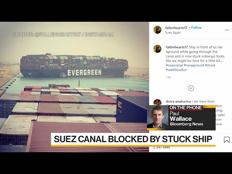 Suez Canal Blocked by Stuck Container Ship