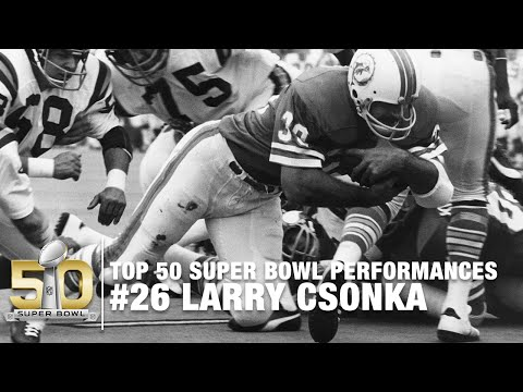 #26: Larry Csonka Super Bowl VIII Highlights | Top 50 Super Bowl Performances