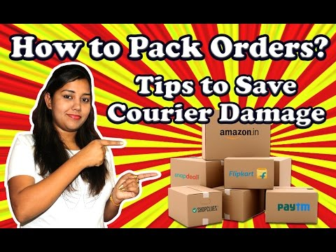 How to Pack Ecommerce orders to Reduce Courier damage in Shipping transit with example in Hindi