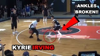 Kyrie Irving plays 1 on 1 VS Regular People, Shows Off Handles and 3 Point Shooting