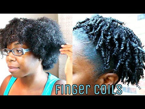 Finger Coiling Tutorial || Defined Curly COILS Puff on Natural Hair
