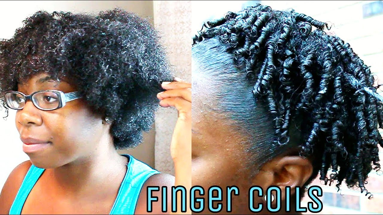 Finger Coiling Tutorial Defined Curly Coils Puff On
