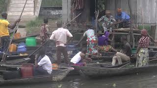 Benin Ganvie, the largest lake village in the worl...