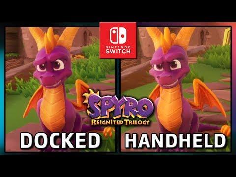 spyro:-reignited-trilogy-|-docked-vs-handheld-|-frame-rate-test-on-switch