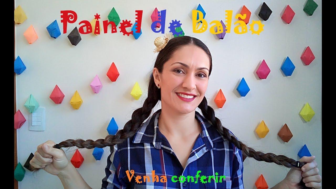 Painel de Bal u00e3o para Festa Junina YouTube -> Decoração De Balões Festa Junina