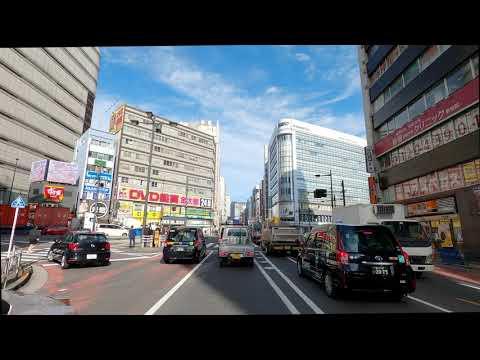 Daytime Driving 4K 50fps - Shibuya to Shinjuku Center Buildings- Tokyo