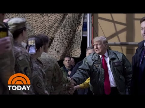 President Donald Trump Makes Surprise Visit To Iraq And Germany | TODAY