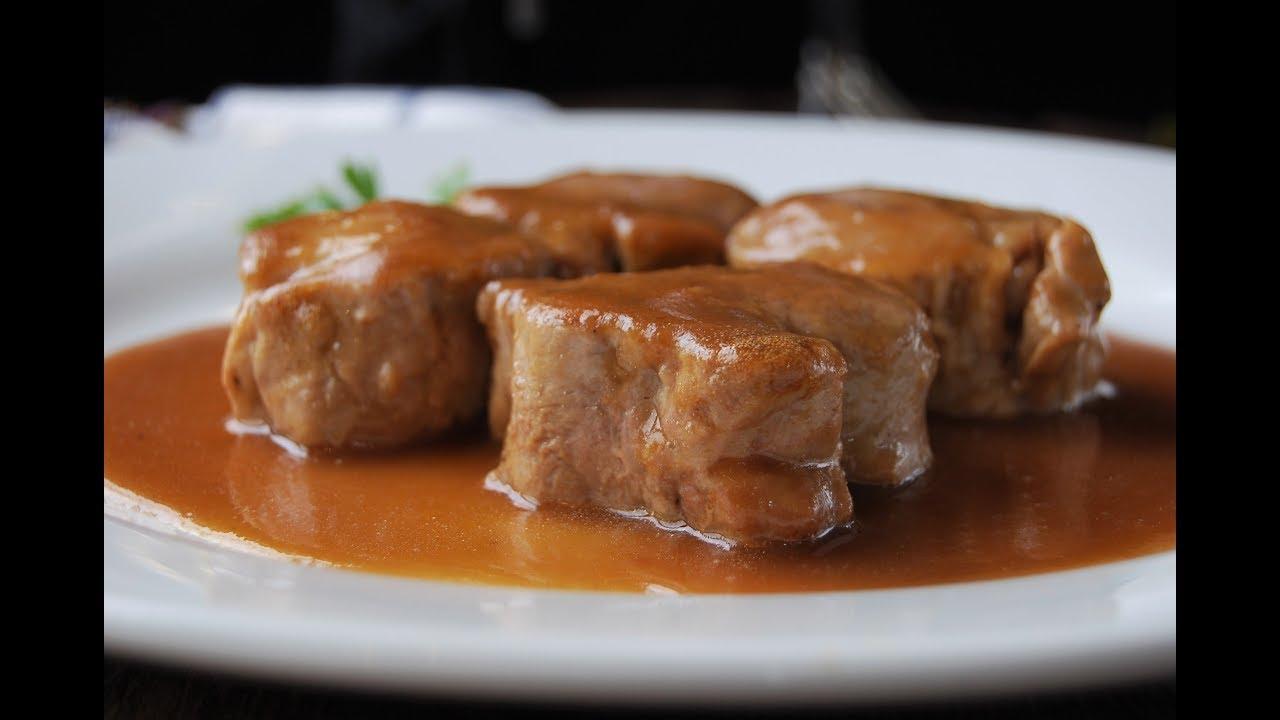 Al con foie cerdo de solomillo oporto