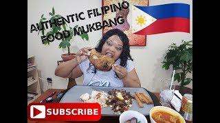 Authentic Filipino food Mukbang 먹방 Crispy Pata, Sisig, Kare-Kare  (eating show)