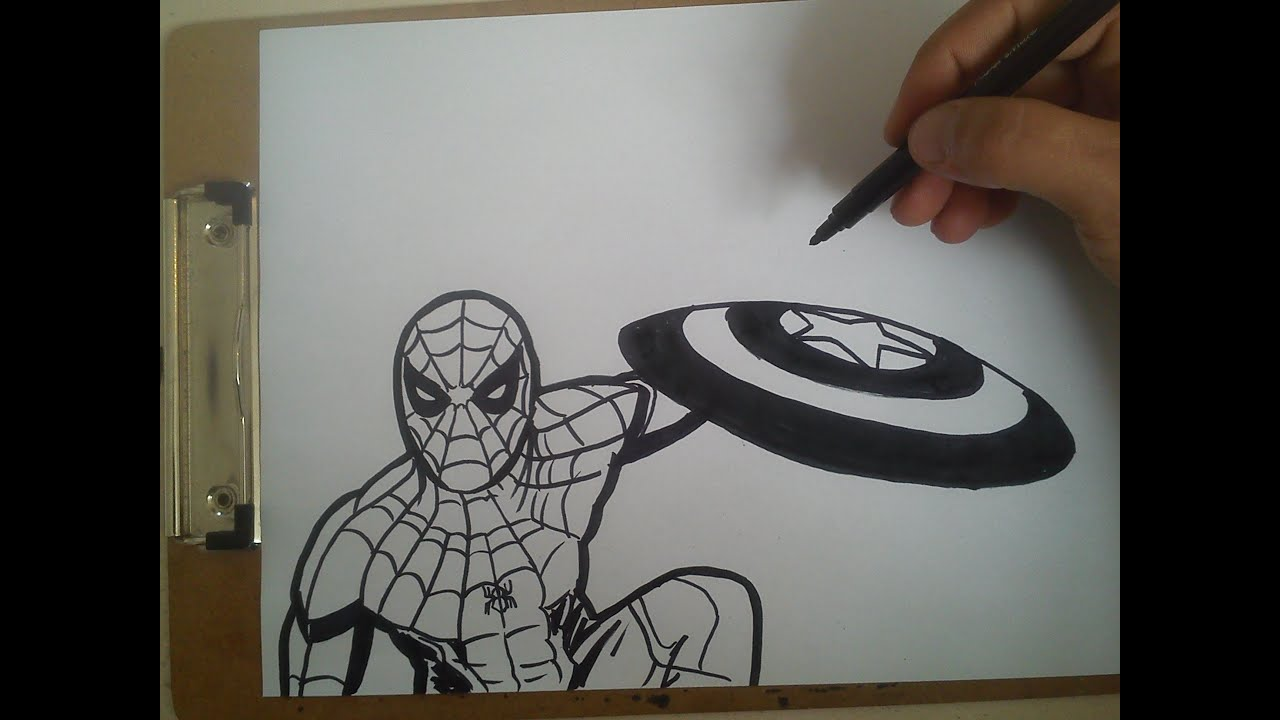 COMO DIBUJAR A SPIDERMAN (CIVIL WAR) / How To Draw