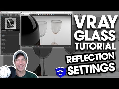 VRAY GLASS SETTINGS TUTORIAL - Reflection Settings in Vray for SketchUp