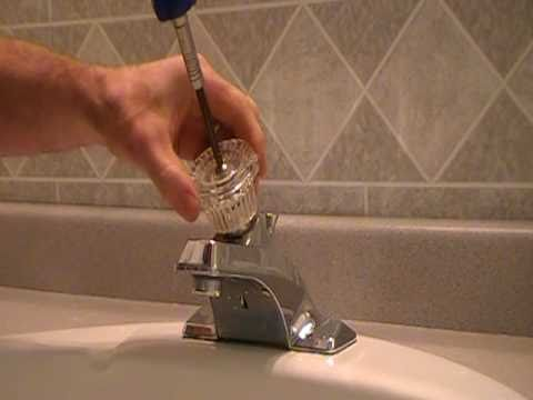 How to replace repair a leaky moen cartridge in a bathroom set of