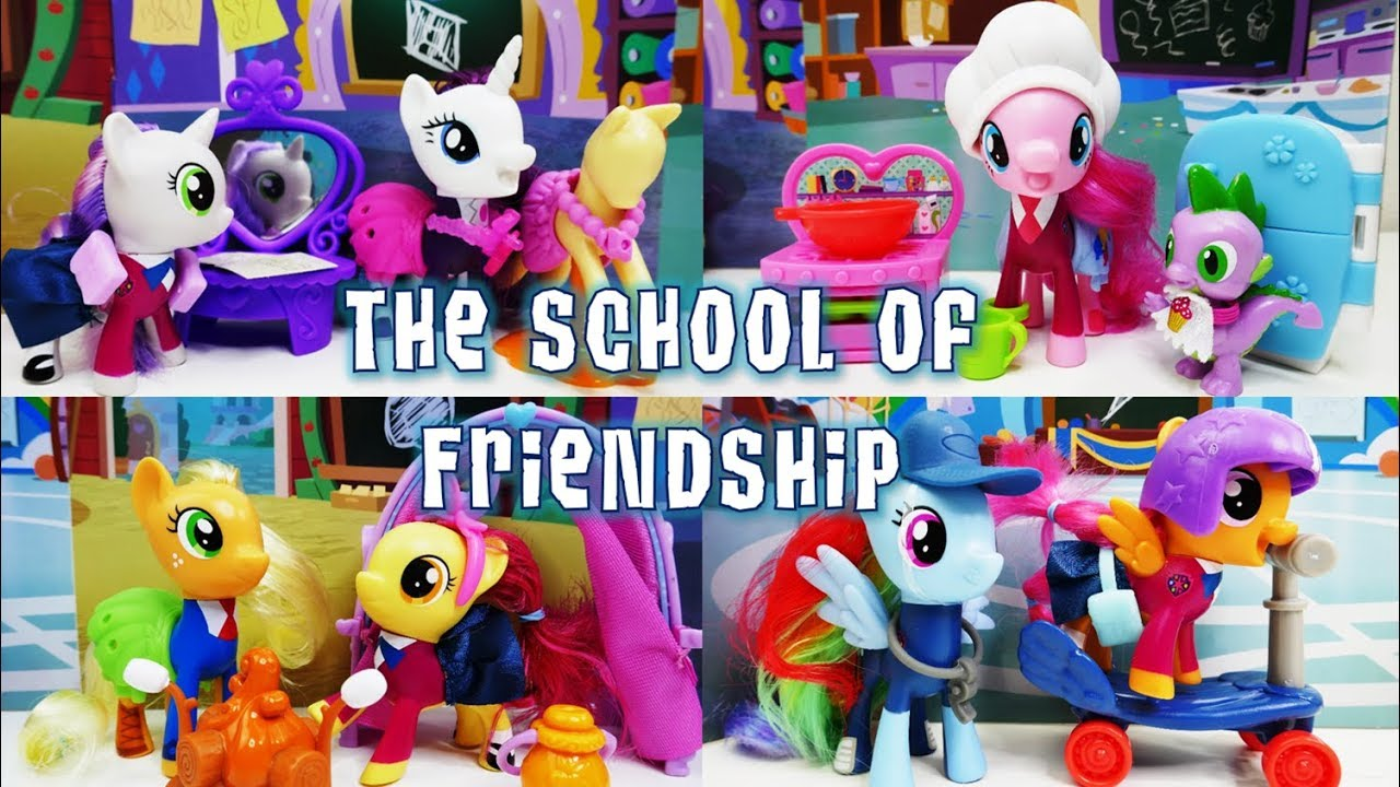 My Little Pony School Of Friendship Collection Pack With Apple Bloom Sweetie Belle And Scootaloo Youtube She is a character of the core 7. my little pony school of friendship collection pack with apple bloom sweetie belle and scootaloo