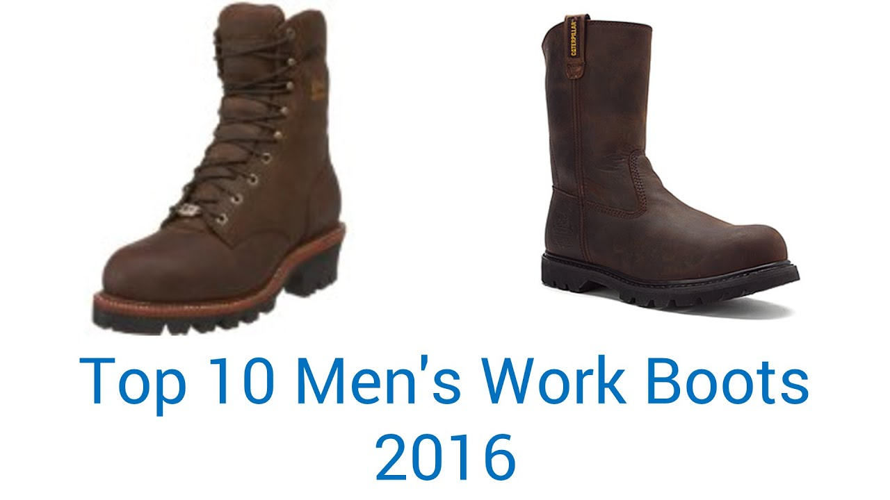 10 Best Men's Work Boots 2016 - YouTube
