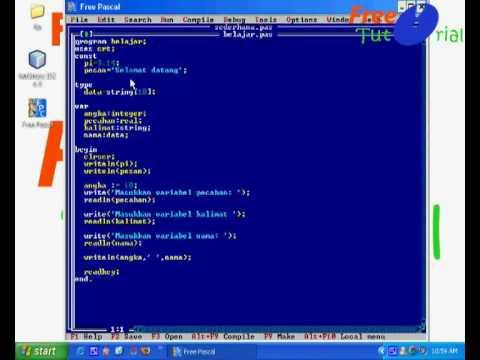 Panduan Free Pascal - Dasar Pemrograman Pascal - YouTube