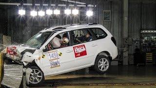 Краш-тест Авторевю: Лада Калина Люкс(Чем при аварии отличается Калина-2 от Гранты — и как отразится на защите ног водителя отсутствие третьей..., 2015-05-19T10:25:15.000Z)