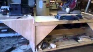 Rolling Miter Table With Disc/belt Sander Platform