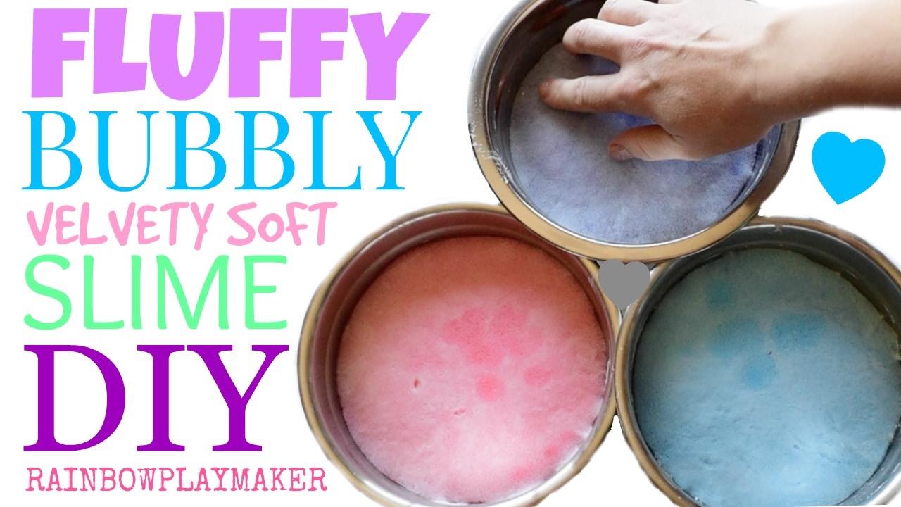 Diy Fluffy Bubbly Velvety Slime Tutorial! Learn How To Make Slime!