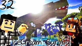 DES DINOSAURES DANS MINECRAFT ! | IceCream Survival [S2] ! #Ep32