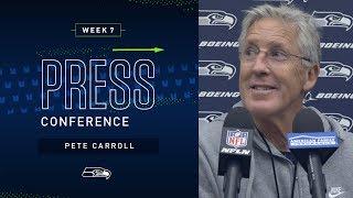 Head Coach Pete Carroll Week 7 Friday Press Conference   2019 Seattle Seahawks