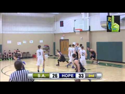 Schaeffer Academy v. Hope Lutheran boys basketball highlights (February 12, 2015)