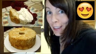 "Angel Food Cake with Maple Sugar | ""Maplefood"" Cake"